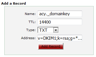how to create dkim record