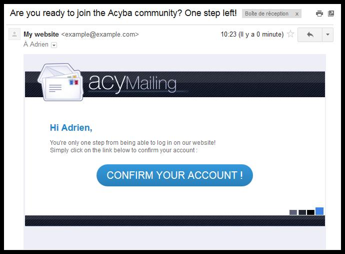 Improve Your Joomla Registration Confirmation Email