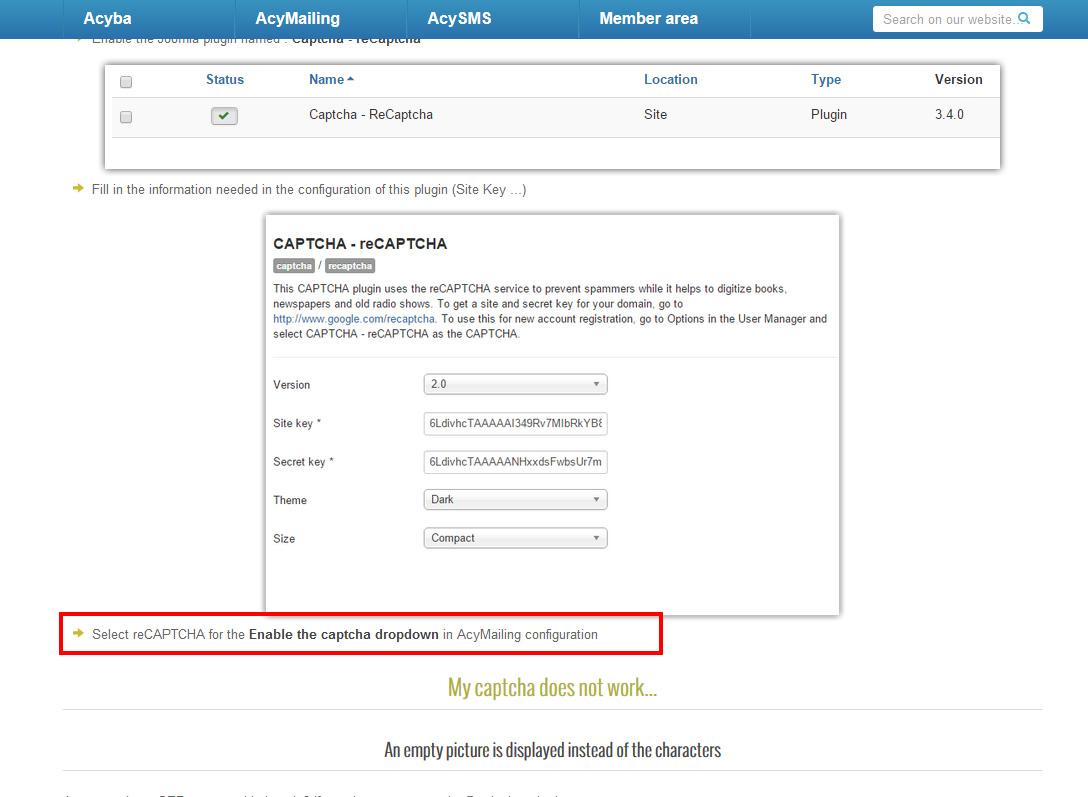Acyba Forums :: Topic: Google reCaptcha integration (1/1)