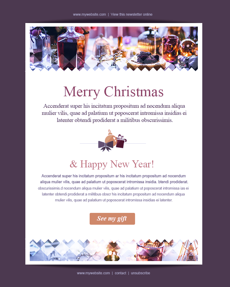 event newsletter templates christmas newyear