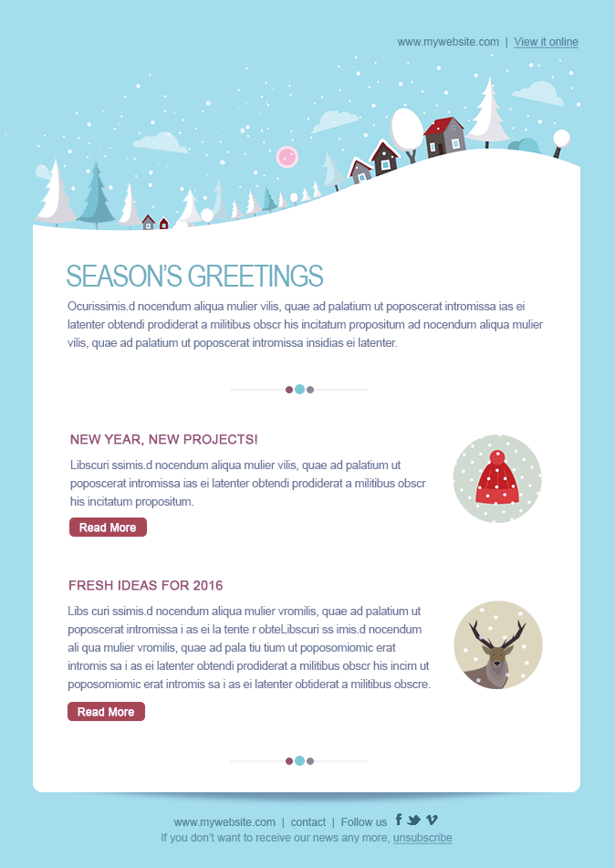 event newsletter templates christmas newyear